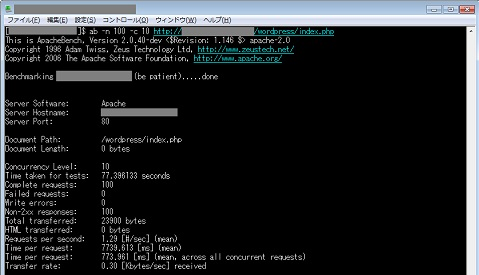 Webサーバーのパフォーマンスチェック