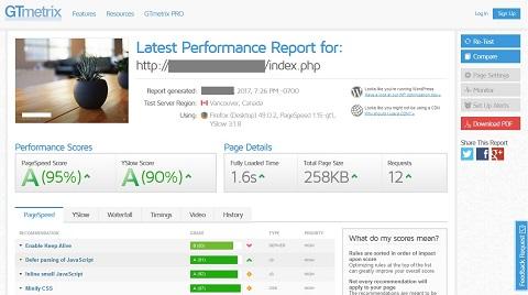 WordPressサイトの表示速度をレンタルサーバー各社で比較(GTmetrix)