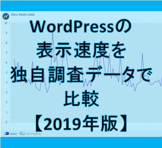 サーバー別のWordPress表示速度を独自調査データで比較【2019年版】