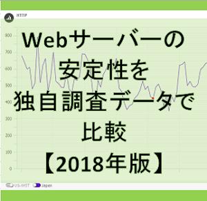 Webサーバーの安定性を独自調査データで比較【2018年版】