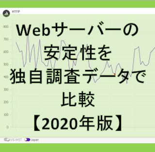 Webサーバーの安定性を独自調査データで比較【2020年版】